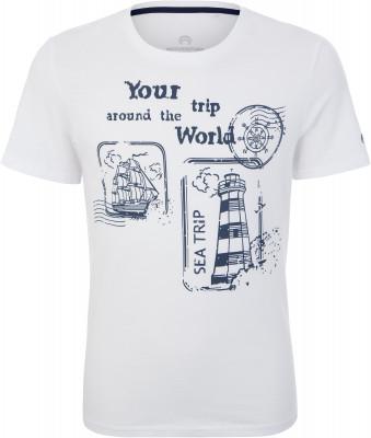 Футболка для мальчиков Outventure, размер 140Футболки и майки<br>Детская футболка outventure прекрасно подойдет для прогулок и путешествий.