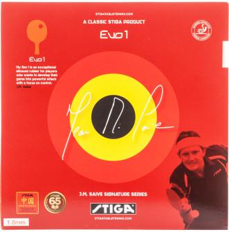 Накладка для ракетки для настольного тенниса Stiga JMS Evo 1 1,8 мм, 2021