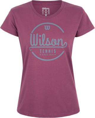 женская футболка wilson, розовая