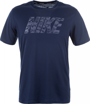 Футболка мужская Nike BreatheБеговая футболка nike breathe, выполненная из влагоотводящей ткани, обеспечивает комфорт во время пробежки.<br>Пол: Мужской; Возраст: Взрослые; Вид спорта: Бег; Покрой: Прямой; Дополнительная вентиляция: Да; Технологии: Nike Dri-FIT; Производитель: Nike; Артикул производителя: 891788-451; Страна производства: Шри-Ланка; Материалы: 100 % полиэстер; Размер RU: 44-46;