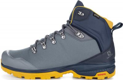 L40692600 Ботинки мужские Salomon OUTback 500 GTX® grey/yellow р.10.5, размер 42Ботинки и сапоги <br>Ботинки outback 500 gtx от salomon станут отличным выбором для треккинга.