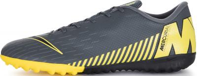 Бутсы мужские Nike Mercurial Vapor 12 Academy TF, размер 43Бутсы<br>Футбольные бутсы для игры на искусственном газоне nike vaporx 12 academy tf с сетчатым верхом сидят, как вторая кожа, и гарантируют комфорт и результативность в игре.