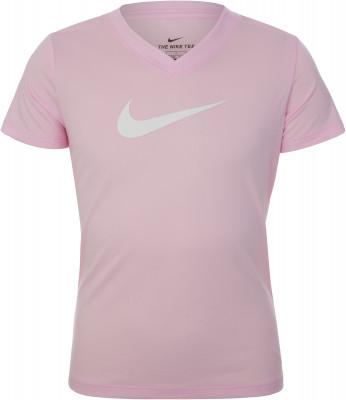 Футболка для девочек Nike Dri-FIT, размер 146-156Футболки и майки<br>Детская футболка для фитнес-тренировок от nike. Отведение влаги ткань с технологией dri-fit эффективно отводит влагу.