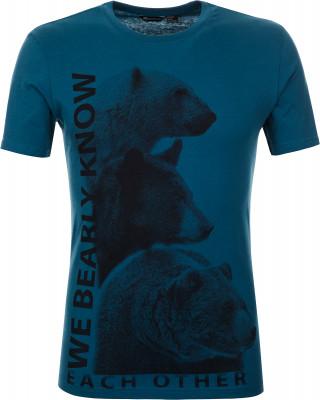 Футболка мужская Outventure, размер 56Футболки<br>Удобная футболка от outventure - отличный выбор для летних путешествий. Натуральные материалы модель выполнена из натурального воздухопроницаемого хлопка.