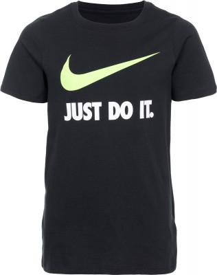 Футболка для мальчиков Nike «Just Do It»Лаконичная футболка для мальчиков от nike отлично впишется в спортивный гардероб. Натуральные материалы натуральный хлопок приятен на ощупь.<br>Пол: Мужской; Возраст: Дети; Вид спорта: Спортивный стиль; Покрой: Прямой; Материалы: 100 % хлопок; Производитель: Nike; Артикул производителя: 709952-010; Страна производства: Турция; Размер RU: 152-158;