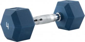Гантель гексагональная обрезиненная RZR, 4 кг