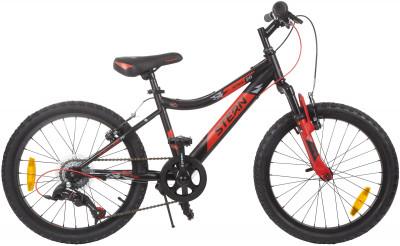 Велосипед подростковый для мальчиков Stern Attack 20Горный велосипед, который отлично подойдет боевитым мальчишкам в возрасте 6-9 лет. Прочность в модели использована надежная стальная рама hi-ten steel.<br>Материал рамы: Сталь; Амортизация: Hard tail; Конструкция рулевой колонки: Неинтегрированная; Конструкция вилки: Пружинно-эластомерная; Ход вилки: 30 мм; Количество скоростей: 6; Наименование заднего переключателя: SUNRACE RDM36; Конструкция педалей: Классические; Наименование манеток: SUNRACE TSM38; Конструкция манеток: Вращающиеся ручки; Тип переднего тормоза: Ободной; Тип заднего тормоза: Ободной; Диаметр колеса: 20; Тип обода: Одинарный; Материал обода: Алюминий; Наименование покрышек: WANDA P1033, 20x1,95; Конструкция руля: Изогнутый; Регулировка руля: Есть; Регулировка седла: Есть; Сезон: 2017; Максимальный вес пользователя: 50 кг; Вид спорта: Велоспорт; Технологии: Hi-ten steel; Производитель: Stern; Артикул производителя: 17ATT20; Срок гарантии: 2 года; Вес, кг: 13,5; Страна производства: Китай; Размер RU: Без размера;