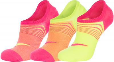Носки женские Nike, 3 парыЖенские носки nike lightweight с низким профилем.<br>Пол: Женский; Возраст: Взрослые; Вид спорта: Спортивный стиль; Производитель: Nike; Артикул производителя: SX5277-903; Страна производства: Китай; Материалы: 96 % нейлон, 4 % эластан; Размер RU: 33-37;