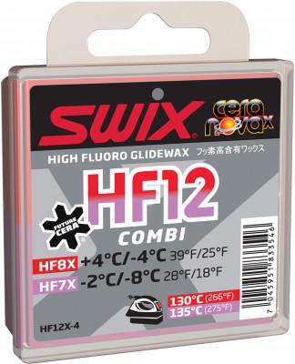 Мазь скольжения Swix HF12XМазь из фторзамещенных углеводородов с высоким содержанием фторуглерода для подготовки скользящей поверхности лыж и сноубордов.<br>Вид спорта: Горные лыжи; Производитель: Swix; Артикул производителя: HF12X-4; Размер RU: Без размера;
