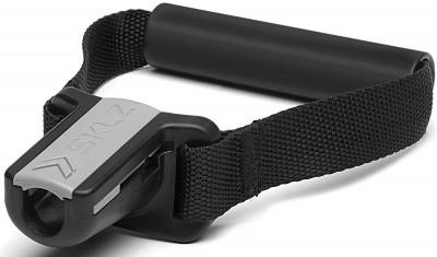 Ручки для троса SKLZручки мягкие для крепления одного тренировочного кабеля. Контурная эргономичная конструкция ручки с вращающейся рукояткой.<br>Вес, кг: 0,2; Состав: хлопок, пластик; Вид спорта: Кардиотренировки, Фитнес; Производитель: SKLZ; Артикул производителя: PRO-QCFH01-06; Срок гарантии: 1 год; Страна производства: Китай; Размер RU: Без размера;