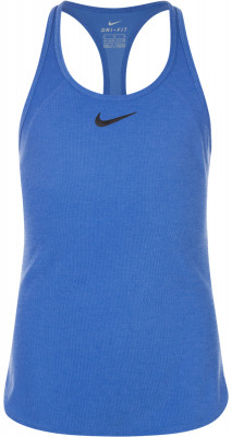 Майка для девочек Nike SlamТеннисная майка для девочек nike slam станет удачным выбором для игр и тренировок. Свобода движений т-образный крой спины позволяет двигаться максимально естественно.<br>Пол: Женский; Возраст: Дети; Вид спорта: Теннис; Материалы: 92 % полиэстер, 8 % вискоза; Технологии: Nike Dri-FIT; Производитель: Nike; Артикул производителя: 724715-478; Страна производства: Камбоджа; Размер RU: 146-156;
