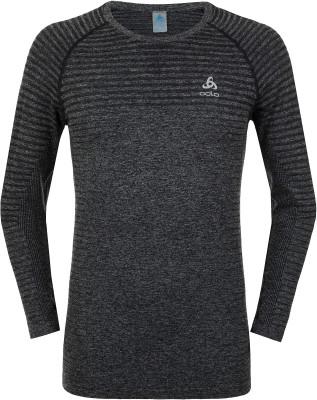Футболка с длинным рукавом мужская Odlo Element, размер 46-48Мужская одежда<br>Технологичная футболка с длинным рукавом от odlo - оптимальный выбор для занятий бегом. Отведение влаги ткань эффективно отводит влагу от кожи.