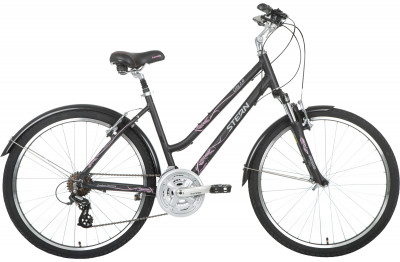 Велосипед городской женский Stern City 2.0 Lady 26Женский велосипед для катания по городу. Мягкое широкое кресло и мягкие грипсы из кратона обеспечивают максимальный комфорт во время езды. В комплектацию входят крылья.<br>Материал рамы: Алюминиевый сплав; Размер рамы: 16; Амортизация: Hard tail; Конструкция рулевой колонки: Неинтегрированная; Конструкция вилки: Пружинно-эластомерная; Ход вилки: 63 мм; Количество скоростей: 21; Наименование переднего переключателя: SHIMANO TOURNEY FD-TY510; Наименование заднего переключателя: SHIMANO ALTUS RD-M310-SMART; Конструкция педалей: Классические; Наименование манеток: SHIMANO TOURNEY ST-EF41; Конструкция манеток: Триггерные двурычажные; Тип переднего тормоза: Ободной; Тип заднего тормоза: Ободной; Диаметр колеса: 26; Тип обода: Двойной; Материал обода: Алюминий; Наименование покрышек: INNOVA IA-2235 26x2,0; Конструкция руля: Изогнутый; Регулировка руля: Есть; Регулировка седла: Есть; Амортизационный подседельный штырь: Есть; Сезон: 2017; Максимальный вес пользователя: 100 кг; Вид спорта: Велоспорт; Технологии: 6061 Aluminium; Производитель: Stern; Артикул производителя: 17CIT2L16; Срок гарантии: 2 года; Вес, кг: 15,9; Страна производства: Китай; Размер RU: 16;