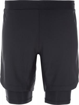 Шорты 2-в-1 мужские Craft Delta 2.0Технологичные компрессионные шорты craft - оптимальный выбор для занятий бегом. Отведение влаги технологичная ткань обладает отличными влагоотводящими свойствами.<br>Пол: Мужской; Возраст: Взрослые; Вид спорта: Бег; Гигроскопичность: Да; Защита от УФ: Нет; Длина по внутреннему шву: 19 см - внешние свободные шорты, 23 см - внутренние обтягивающие; Покрой: Свободный; Плоские швы: Да; Светоотражающие элементы: Да; Компрессионный эффект: Да; Количество карманов: 1; Материал верха: 50 % полиэстер, 35 % полиамид, 15 % эластан; Производитель: Craft; Артикул производителя: 1905820; Страна производства: Китай; Размер RU: 50-52;
