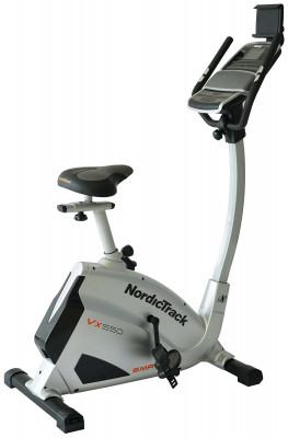 Велотренажер NordicTrack Vx 550Технологичный велотренажер позволит проводить домашние кардиотренировки с максимальным комфортом. Занятия на тренажере позволят укрепить мышцы ног и пресса.<br>Система нагружения: Магнитная; Масса маховика: 9; Регулировка нагрузки: Электронная; Нагрузка: 20 уровней; Измерение пульса: Датчики на поручнях; Нагрудный кардиодатчик: Опционально; Питание тренажера: Сеть: 220В; Максимальный вес пользователя: 147 кг; Время тренировки: Есть; Скорость: Есть; Пройденная дистанция: Есть; Уровень нагрузки: Есть; Скорость вращения педалей: Есть; Израсходованные калории: Есть; Пульс: Есть; Целевые тренировки (CountDown): Есть; Дополнительные функции: Маршрут; Общее количество тренировочных программ: 20; Пользовательские программы: Есть, через приложение iFIT; Регулировка руля: Есть; Регулировка сиденья: Вертикальная/Горизонтальная; Подставка для аксессуаров: Держатель для бутылки, держатель для планшета; Транспортировочные ролики: Есть; Компенсаторы неровности пола: Есть; Дополнительно: Bluetooth; Размер в рабочем состоянии (дл. х шир. х выс), см: 104 x 63 x 147; Вес, кг: 38; Вид спорта: Кардиотренировки; Технологии: CoolAire, SMR, iFit; Производитель: NordicTrack; Артикул производителя: TIVEX47016; Срок гарантии: 2 года; Страна производства: Китай; Размер RU: Без размера;
