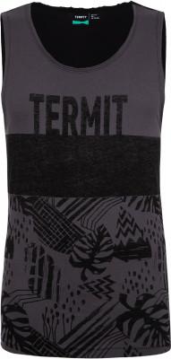 Майка мужская Termit, размер 46Surf Style <br>Майка с интересным принтом от termit подойдет для пляжного отдыха. Свобода движений прямой крой позволяет двигаться свободно.