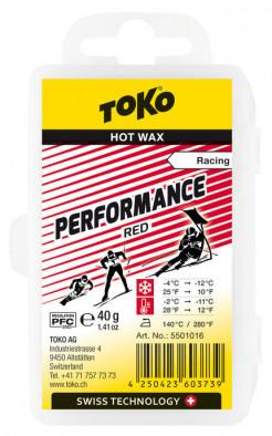 Мазь скольжения TOKO Performance red 40g, -4С/-12C