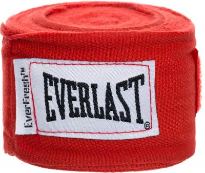 Бинты Everlast 2,5 м, 2 шт.Бинты everlast предназначены для защиты суставов во время работы в боксерских перчатках. Использование бинтов помогает избежать растяжений и вывихов.<br>Длина: 2,5 м; Материалы: 55 % нейлон, 45 % полиэстер; Тип фиксации: Липучка; Вид спорта: Бокс; Производитель: Everlast; Артикул производителя: 4463; Срок гарантии: 15 дней; Размер RU: Без размера;