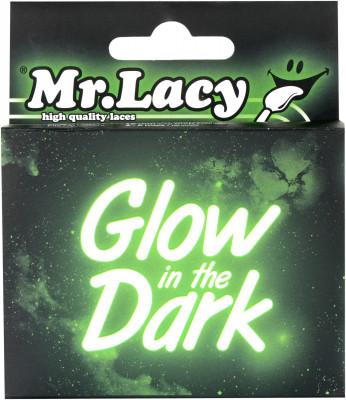 Шнурки Mr. LacyТехнологичные шнурки от mr. Lacy сделают вас заметнее в условиях плохой видимости: в темноте шнурки светятся зеленым.<br>Пол: Мужской; Возраст: Взрослые; Материалы: 100 % полиэстер; Производитель: Mr. Lacy; Артикул производителя: 315517; Страна производства: Китай; Размер RU: Без размера;