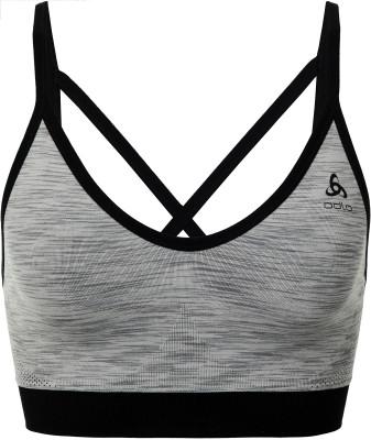 Спортивное бра Odlo Seamless, размер 40-42Женская одежда<br>Технологичное бесшовное бра от odlo - отличный выбор для занятий бегом. Отведение влаги влагоотводящая ткань обеспечивает оптимальный микроклимат.