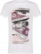 Футболка для девочек Converse Shiny Sneaker Stack Tee