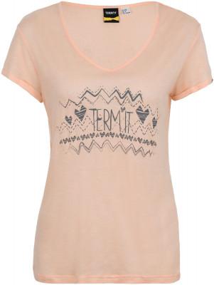Футболка женская TermitПрактичная футболка от termit станет превосходным выбором для активного отдыха. Свобода движений удобный продуманный крой обеспечивает свободу движений.<br>Пол: Женский; Возраст: Взрослые; Вид спорта: Skate style; Материалы: 97 % вискоза, 3 % полиэстер; Производитель: Termit; Артикул производителя: S17ATE502X; Страна производства: Китай; Размер RU: 52;