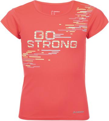 Футболка для девочек Demix, размер 128Футболки и майки<br>Отличный вариант для занятий бегом - влагоотводящая футболка для девочек от demix. Отведение влаги ткань с технологией movi-tex обеспечивает эффективный влагоотвод.