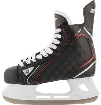 Коньки хоккейные Graf Pk100 NewХоккейные коньки от graf линии peakspeed. Модель рассчитана на широкий круг любителей хоккея.<br>Вес, кг: 0,98; Раздвижной ботинок: Нет; Термоформируемый ботинок: Нет; Материал ботинка: Синтетические материалы; Материал подкладки: Синтетический материал Bruch Nylon; Материал лезвия: Нержавеющая сталь; Анатомический ботинок: Да; Широкая колодка: Да; Тип фиксации: Шнурки; Усиленный ботинок: Да; Поддержка голеностопа: Есть; Ударопрочный мыс: Да; Морозоустойчивый стакан: Да; Анатомическая стелька: Нет; Усиленный язык: Есть; Анатомические вкладыши: Есть; Съемный внутренний ботинок: Нет; Материал подошвы: Пластик; Заводская заточка: Нет; Утепленный ботинок: Нет; Пол: Мужской; Возраст: Взрослые; Вид спорта: Хоккей; Уровень подготовки: Средний; Технологии: Grilamid, SpeedFit technology, Stainless steel; Производитель: Graf; Артикул производителя: PK100SR; Срок гарантии: 3 года; Страна производства: Китай; Размер RU: 40;