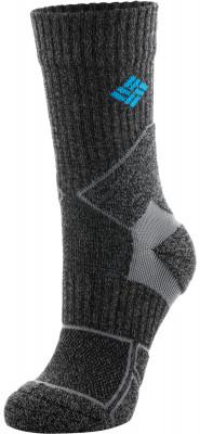 Носки Columbia, 1 параТеплые носки для активного отдыха в холодную погоду. В комплекте 1 пара. Анатомическая конструкция благодаря продуманному анатомическому крою, носки отлично сидят по ноге.<br>Пол: Мужской; Возраст: Взрослые; Вид спорта: Активный отдых; Плоские швы: Да; Светоотражающие элементы: Нет; Дополнительная вентиляция: Да; Компрессионный эффект: Да; Материалы: 58 % шерсть, 23 % нейлон, 18 % полиэстер, 1 % эластан; Производитель: Columbia Delta; Артикул производителя: RCS173000L; Страна производства: Китай; Размер RU: 43-46;