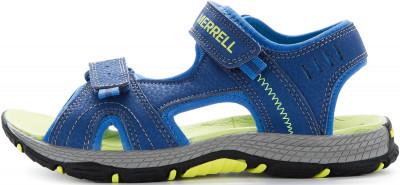 Сандалии для мальчиков Merrell Panther, размер 34,5Водный туризм <br>Детские сандалии от merrell станут отличным выбором для водного туризма. Быстрое высыхание быстросохнущая подкладка выполнена из сочетания сетки и элементов из неопрена.