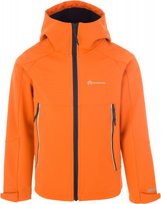 Куртка софт-шелл для мальчиков Outventure, размер 164Куртки <br>Удобная детская куртка софтшелл от outventure пригодится в походах. Водонепроницаемость мембрана add dry с показателем водонепроницаемости 5000 мм защищает от промокания.