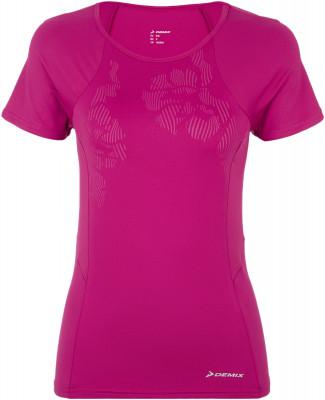 Футболка женская Demix, размер 46Футболки<br>Удобная футболка для тренинга от demix. Отведение влаги ткань с технологией movi-tex обеспечивает отведение влаги и комфортный микроклимат.
