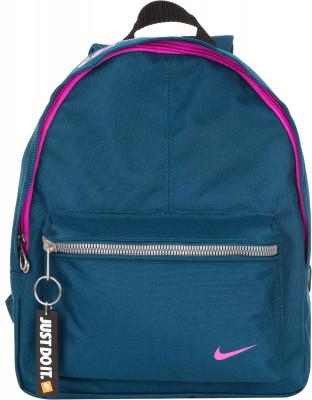 Рюкзак для девочек Nike ClassicНебольшой детский рюкзак от nike с регулируемыми лямками. Вместительное отделение и карман на молнии позволяют захватить с собой все необходимые вещи.<br>Пол: Женский; Возраст: Дети; Вид спорта: Спортивный стиль; Размеры (дл х шир х выс), см: 25,4 x 10,16 x 31,75; Количество карманов: 1; Количество отделений: 1; Производитель: Nike; Артикул производителя: BA4606-458; Страна производства: Индонезия; Материал верха: 100 % полиэстер; Размер RU: Без размера;