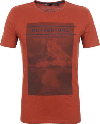 Футболка мужская Outventure, размер 58Футболки<br>Практичная мужская футболка от outventure - то что нужно в походе. Свобода движений продуманный крой обеспечивает удобство и свободу движений.