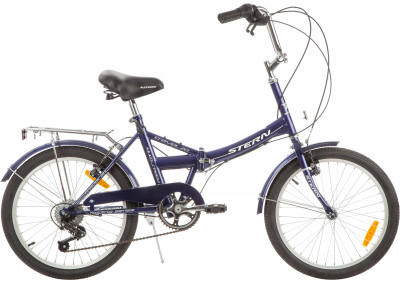 Велосипед складной Stern Travel Multi 20Компактный велосипед с небольшими 20-дюймовыми колесами подойдет для комфортного катания в городе. Модель рассчитана как на взрослого, так и на подростка.<br>Материал рамы: Сталь; Амортизация: Rigid; Конструкция рулевой колонки: Неинтегрированная; Складная конструкция: Да; Размер в сложенном виде (дл. х шир. х выс), см: 77 x 64 x 10,8; Конструкция вилки: Жесткая; Количество скоростей: 6; Наименование заднего переключателя: SUNRACE RDM2T; Конструкция педалей: Классические; Наименование манеток: SUNRACE TSM28; Конструкция манеток: Вращающиеся ручки; Тип переднего тормоза: Ободной; Тип заднего тормоза: Ободной; Диаметр колеса: 20; Тип обода: Одинарный; Материал обода: Алюминий; Наименование покрышек: WANDA P1023, 20x1,95; Конструкция руля: Изогнутый; Регулировка руля: Есть; Регулировка седла: Есть; Сезон: 2017; Максимальный вес пользователя: 100 кг; Вид спорта: Велоспорт; Технологии: Hi-ten steel; Производитель: Stern; Артикул производителя: 13TRV20M; Срок гарантии: 2 года; Вес, кг: 18; Страна производства: Китай; Размер RU: Без размера;