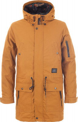 Куртка мужская утепленная TermitУтепленная мужская куртка от termit - для тех, кто живет активно. Сохранение тепла в куртке использован синтетический утеплитель весом 80 г м2.<br>Пол: Мужской; Возраст: Взрослые; Вид спорта: Skate style; Вес утеплителя на м2: 80 г/м2; Наличие мембраны: Нет; Регулируемые манжеты: Да; Длина по спинке: 95 см; Покрой: Прямой; Дополнительная вентиляция: Нет; Длина куртки: Длинная; Капюшон: Не отстегивается; Количество карманов: 6; Производитель: Termit; Артикул производителя: EJAM01D3XS; Страна производства: Китай; Материал верха: 100 % хлопок; Материал подкладки: 100 % полиэстер; Материал утеплителя: 100 % полиэстер; Размер RU: 44;
