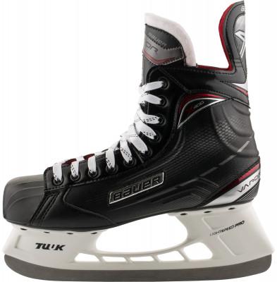 Коньки хоккейные детские Bauer S17 Vapor X400Детские хоккейные коньки от bauer линии vapor. Модель рассчитана на широкий круг любителей хоккея.<br>Раздвижной ботинок: Нет; Термоформируемый ботинок: Да; Материал ботинка: Tech PU; Материал подкладки: Microfiber; Материал лезвия: Нержавеющая сталь; Анатомический ботинок: Да; Широкая колодка: Нет; Тип фиксации: Шнурки; Усиленный ботинок: Нет; Поддержка голеностопа: Есть; Ударопрочный мыс: Да; Морозоустойчивый стакан: Да; Анатомическая стелька: Есть; Усиленный язык: Нет; Анатомические вкладыши: Есть; Съемный внутренний ботинок: Нет; Материал подошвы: Облегченный жесткий пластик TPR; Заводская заточка: Нет; Утепленный ботинок: Нет; Пол: Мужской; Возраст: Дети; Вид спорта: Хоккей; Уровень подготовки: Средний; Технологии: 3-D Trueform tech PU, Hydrophobic microfiber, TUUK LIGHTSPEED EDGE; Производитель: Bauer; Артикул производителя: 1050595; Срок гарантии: 3 года; Страна производства: Китай; Размер RU: 35;
