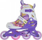 Роликовые коньки детские раздвижные REACTION Disney Girl