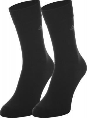 Носки мужские Columbia, 2 парыМужские носки из натуральных материалов с вложением эластичных нитей.<br>Пол: Мужской; Возраст: Взрослые; Вид спорта: Путешествие; Плоские швы: Да; Светоотражающие элементы: Нет; Дополнительная вентиляция: Нет; Компрессионный эффект: Нет; Производитель: Columbia Delta; Артикул производителя: RCS001BLKM; Страна производства: Китай; Материалы: 67 % хлопок, 30 % полиэстер, 3 % эластан; Размер RU: 39-42;