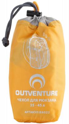 Накидка на рюкзак Outventure, 35-45 лУдобная накидка для рюкзака объемом 35-45 л защитит вещи от воды и грязи изготовлена из водонепроницаемой ткани. Упаковывается в специальный мешок.<br>Пол: Мужской; Возраст: Взрослые; Вид спорта: Кемпинг, Походы; Состав: ткань: 100% полиэстер; Производитель: Outventure; Артикул производителя: IE6022D2; Срок гарантии: 2 года; Страна производства: Китай; Размер RU: Без размера;