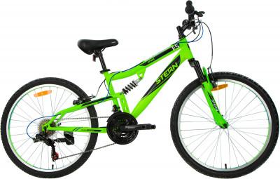 Attack 24 FS (2019), размер 130-160Велосипеды<br>Горный велосипед attack 24 fs разработан специально для мальчиков 8-12 лет. Амортизация задний амортизатор делает езду по бездорожью максимально комфортной.