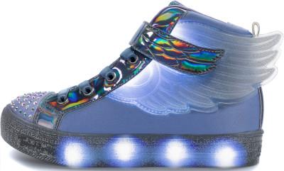 Кеды для девочек Skechers Shuffle Brights-Sparkle Wings, размер 33Кеды <br>Яркие и блестящие кеды skechers twinkle toes с маленькими лампочками на мыске - это то, что точно привлечет внимание окружающих.
