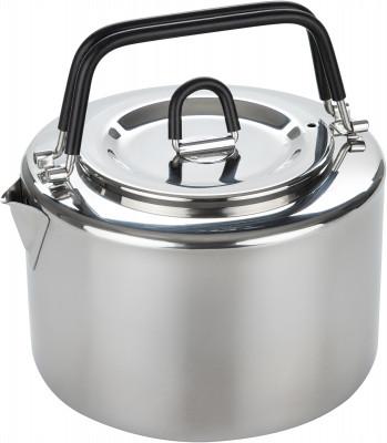 Чайник Tatonka Teapot 1.5 LПосуда<br>Походный чайник объемом 1, 5 л из качественной нержавеющей стали с термоизолированными ручками. В комплект входит ситечко из нержавеющей стали.