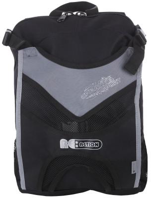 Рюкзак REACTIONУниверсальный рюкзак для переноски как роликовых, так и ледовых коньков. Регулируемые плечевые лямки обеспечивают комфортную посадку.<br>Размеры (дл х шир х выс), см: 26 х 10 х 39; Объем: 8 л; Количество отделений: 2; Количество карманов: 3; Материал верха: 100 % полиэстер; Материал подкладки: 100 % полиэстер; Вид спорта: Роликовые коньки; Производитель: REACTION; Артикул производителя: RRK13AB; Срок гарантии: 2 года; Страна производства: Китай; Размер RU: Без размера;