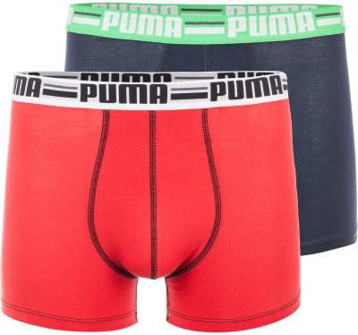 Трусы мужские Puma Brand (2 шт.)Боксеры - самый распространенный вид мужского нижнего белья. Их выбирают, прежде всего, из-за удобства: они комфортно облегают, имеют среднюю длину и плотную фиксацию.<br>Пол: Мужской; Возраст: Взрослые; Вид спорта: Бег, Тренинг; Застежка: Отсутствует; Производитель: Puma; Артикул производителя: 906073-03; Страна производства: Пакистан; Материалы: 95 % хлопок, 5 % эластан; Размер RU: 44-46;