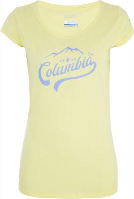 Футболка женская Columbia Outdoor Play Tee, размер 46Футболки<br>Женская футболка с принтом на груди станет отличным выбором для путешествий и активного отдыха.