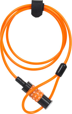 Замок велосипедный кодовый CyclotechВелосипедный замок cyclotech со стальным тросом в виниловой оплетке<br>Тип замка: Кодовый; Материал троса: Сталь; Материал замка: Пластик, виниловая оплетка; Длина: 120 см; Толщина: 5 мм; Вид спорта: Велоспорт; Срок гарантии: 6 месяцев; Производитель: Cyclotech; Артикул производителя: CLK-4OR.; Страна производства: Китай; Размер RU: Без размера;