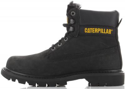 Ботинки утепленные мужские Caterpillar Colorado Fur, размер 46Ботинки и сапоги <br>Мужские ботинки для путешествий от caterpillar сцепление с поверхностью использование конструкции goodyear welt с добавлением каучука обеспечивает долговечность ботинка, сце