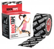 Кинезио-тейп RockTape 5 см х 5 м, чёрный логотип