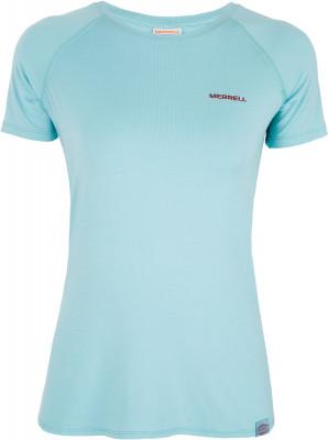 Футболка женская Merrell, размер 44Футболки<br>Практичная футболка merrell для прогулок и походов. Отведение влаги ткань с технологией m select wick эффективно отводит влагу от тела и быстро сохнет.